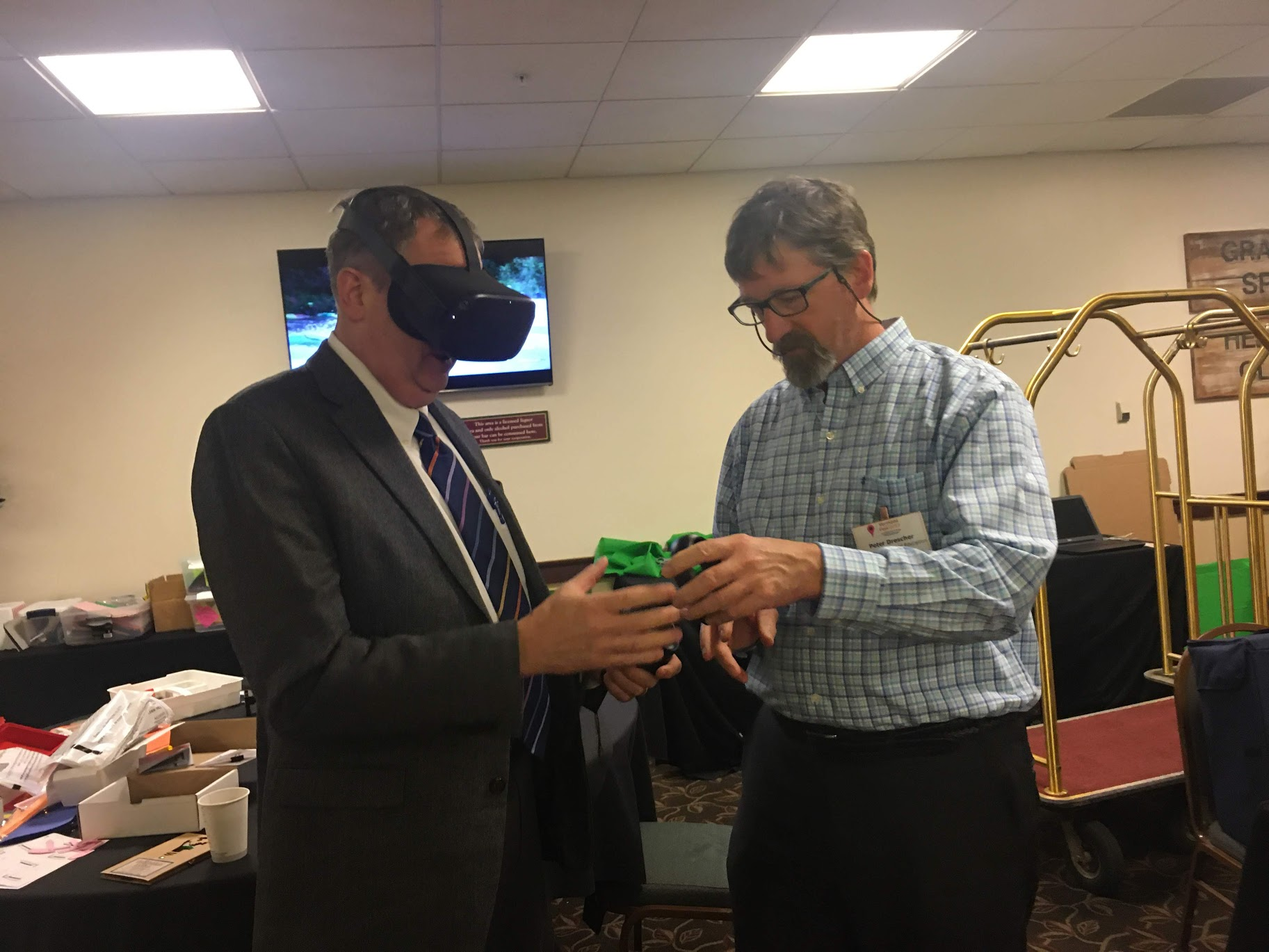 Attendee with VR Headset