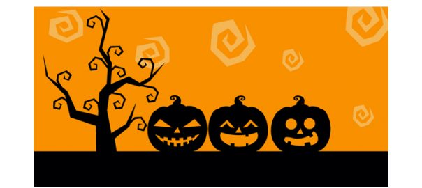 Halloween image with jack o' lanterns